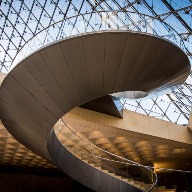 """""""Louvre Museum - Pyramid Staircase"""" stock image"""