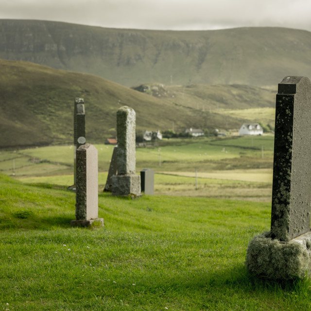 """Kilmuir Graveyard"" stock image"