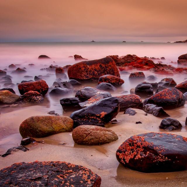 """Brittany Rocks, France"" stock image"