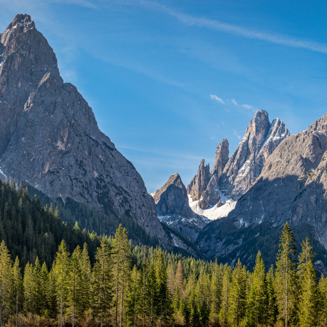 """Dolomites of Sesto, Italy"" stock image"