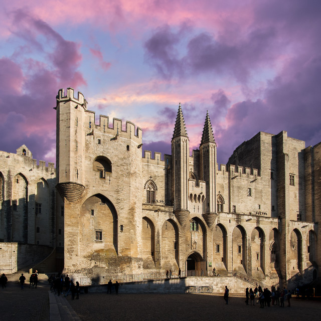 """Papal palace in Avignon, France"" stock image"