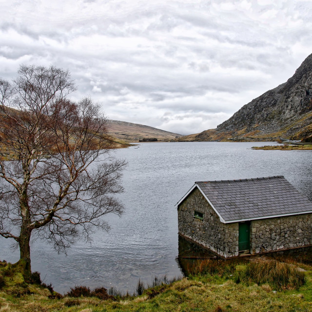 """Cabin on the lake"" stock image"