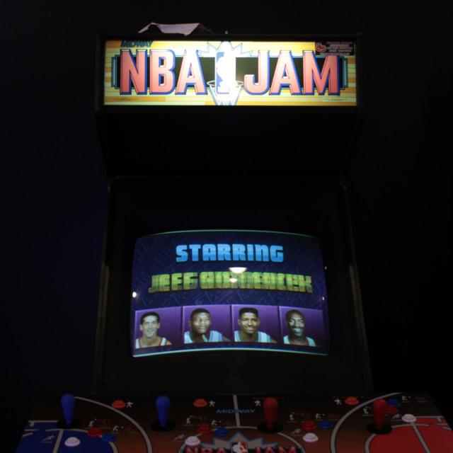 """Seattle Waterfront Arcade"" stock image"