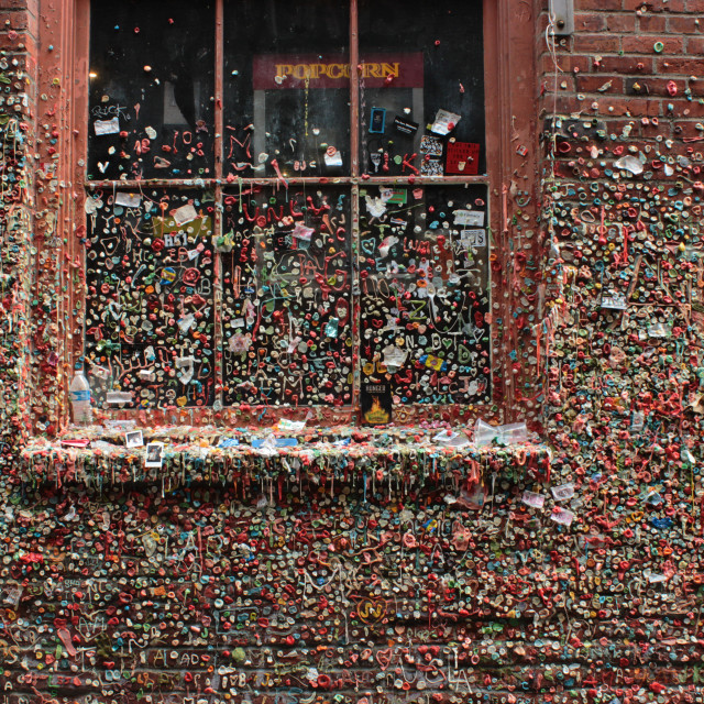 """""""Seattle Gum Wall"""" stock image"""