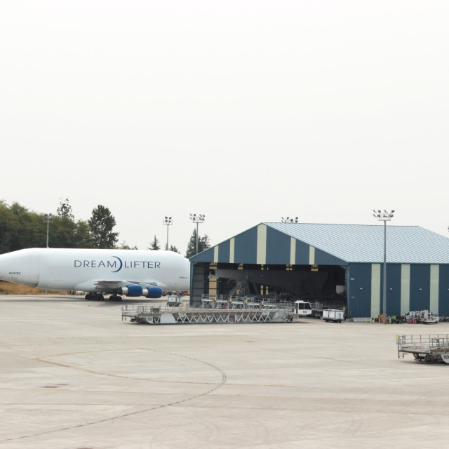 """Boeing's Museum of Flight"" stock image"