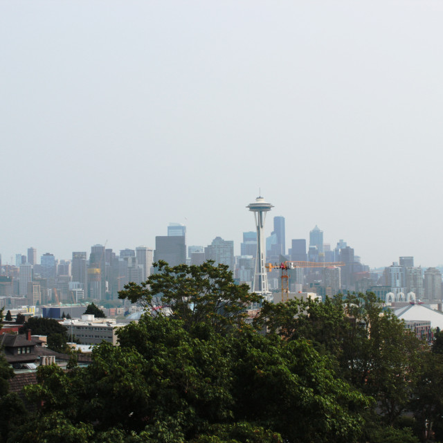"""""""Seattle Skyline from Kerry Park"""" stock image"""