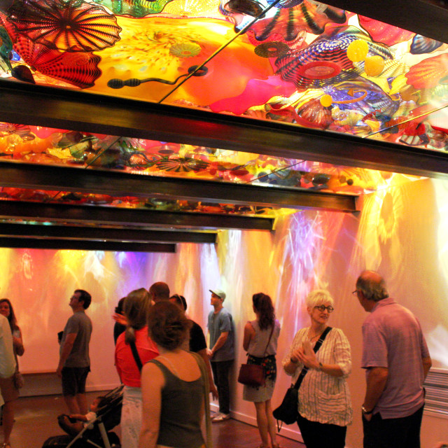 """""""Seattle's Chihuly Garden & Glass Exhibit"""" stock image"""