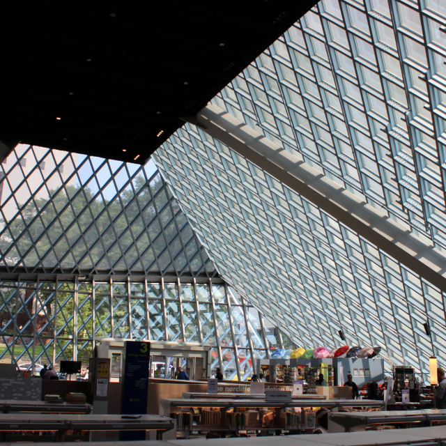 """""""Seattle Public Library"""" stock image"""