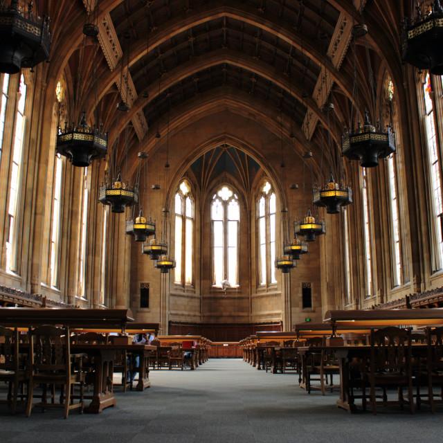 """University of Washington's Suzzallo Library"" stock image"