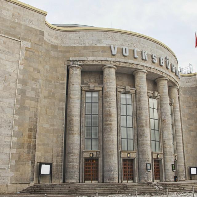 """Volksbuhne in former east Berlin"" stock image"