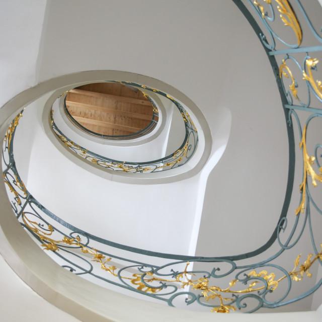 """""""Jugendstil staircase"""" stock image"""