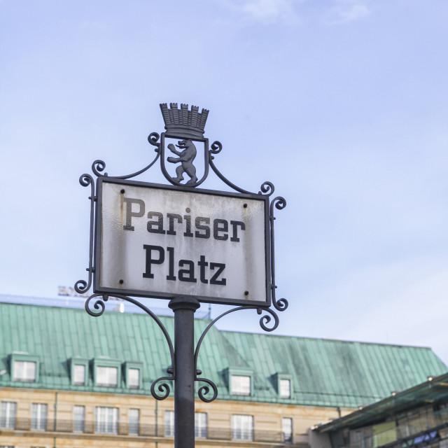 """""""Pariser Platz"""" stock image"""