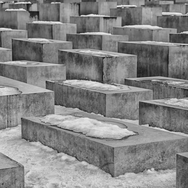 """Holocaust memorial monument in Berlin"" stock image"