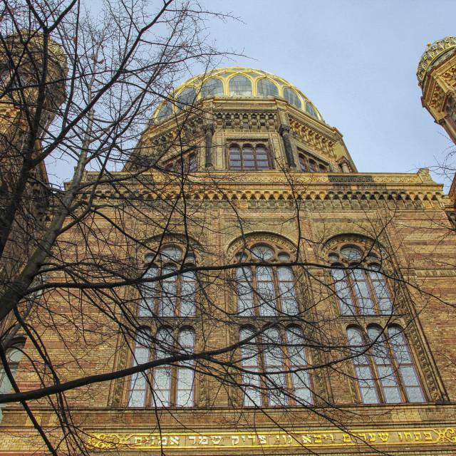 """Synagogue Berlin"" stock image"
