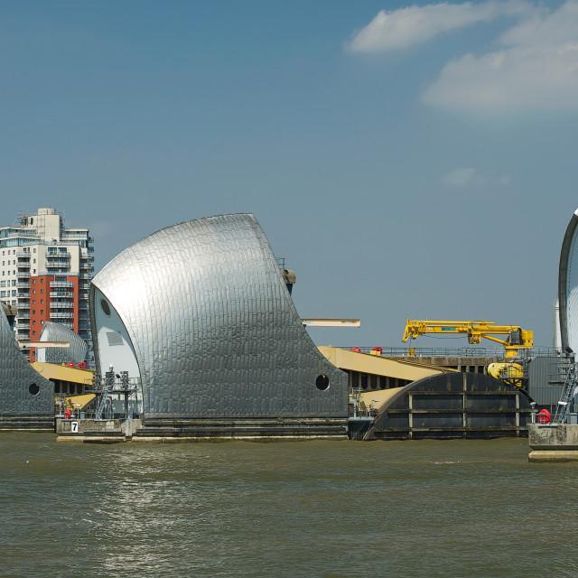 """Thames Barrier #1"" stock image"