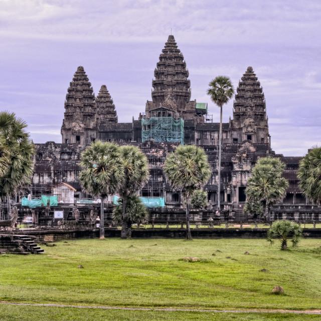 """""""Angkor Wat Temple Purple Sunrise"""" stock image"""