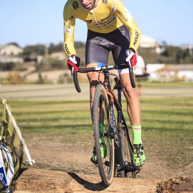 """Cyclocross Racing in Granollers"" stock image"