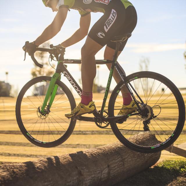 """""""Gerard Álvarez racing cyclocross"""" stock image"""