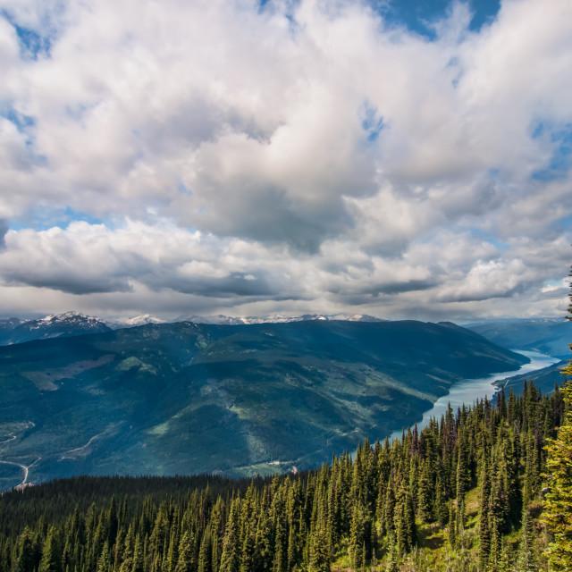 """Mount Revelstoke National Park View"" stock image"