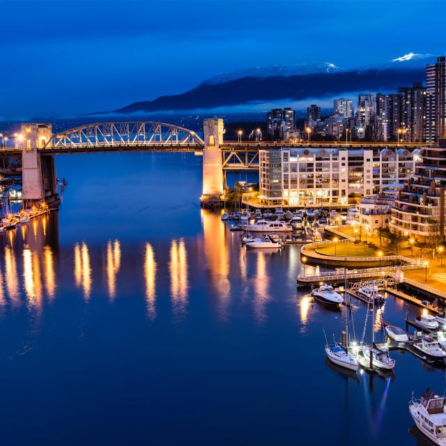 """Burrard Street Bridge in Vancouver"" stock image"