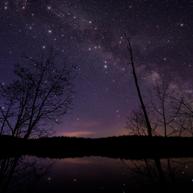 """Milky Way with Large Twinkling stars"" stock image"
