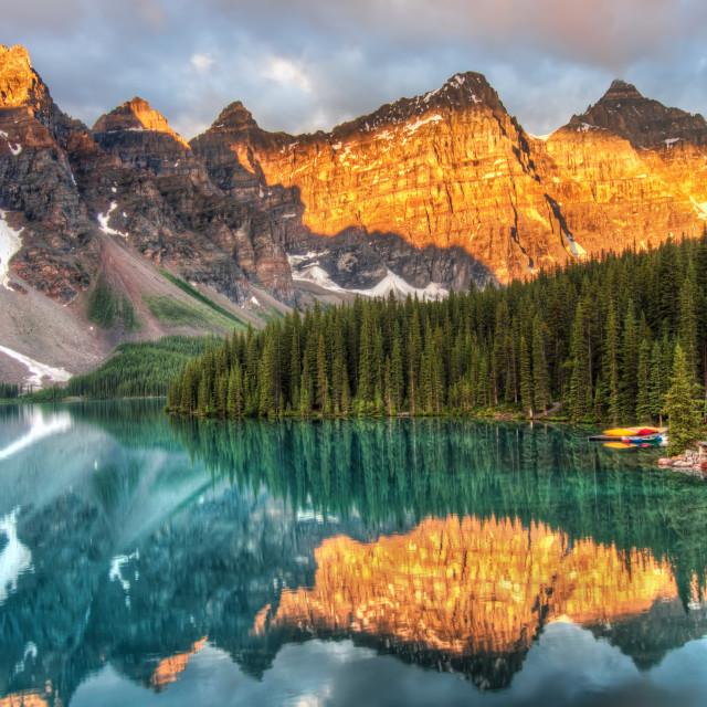 """Moraine Lake in Canada"" stock image"
