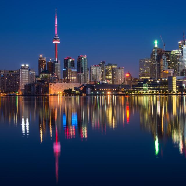 """Toronto City Skyline Reflection"" stock image"