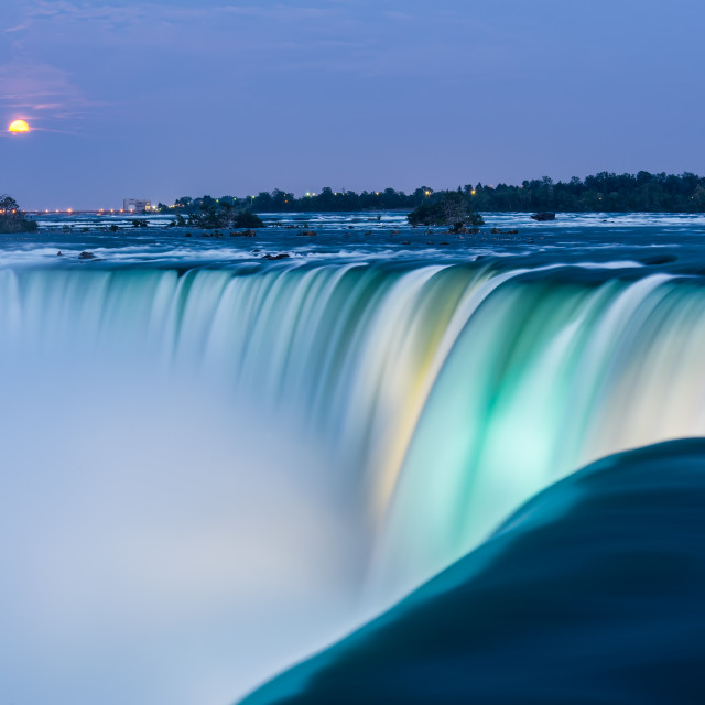 """Niagara Falls at Dusk"" stock image"