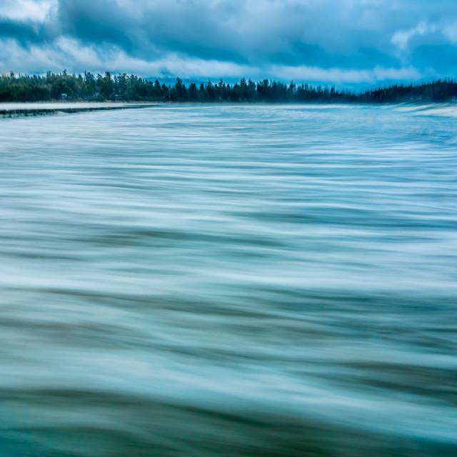"""Smooth Coastal Water"" stock image"