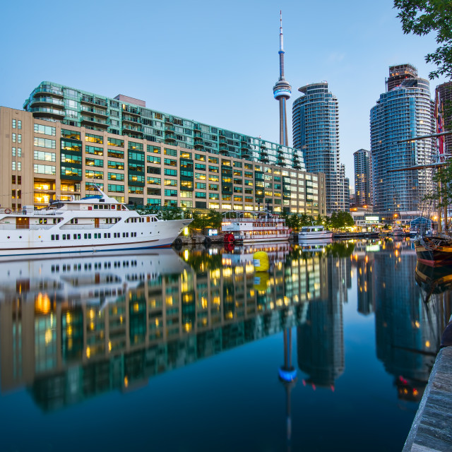"""Toronto Harbour with CN Tower"" stock image"