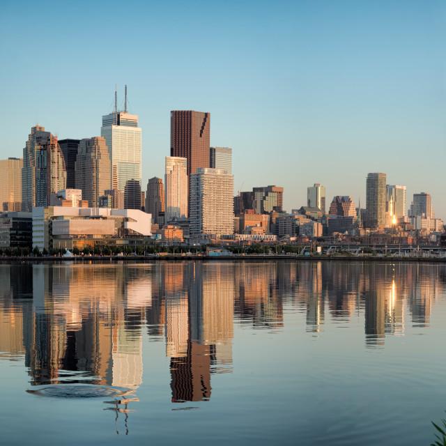 """""""Toronto City Skyline Panorama"""" stock image"""