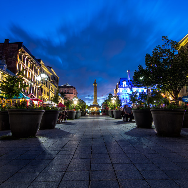 """Nelson's Column on Place Jacques Cartier in Montreal Quebec"" stock image"