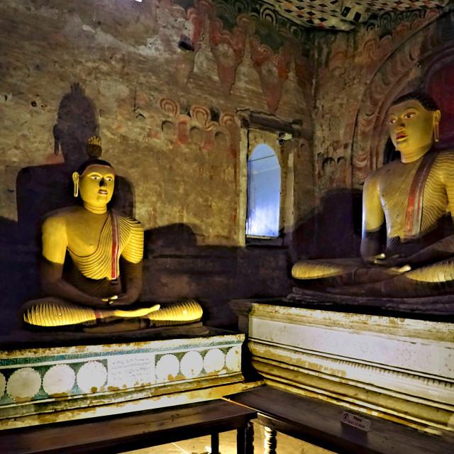 """Inside Dambulla Caves"" stock image"