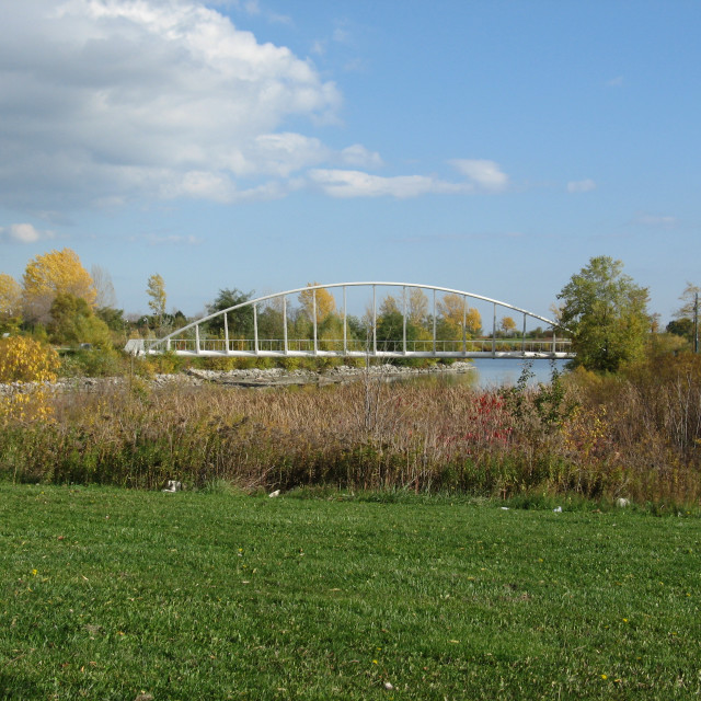 """Humber River Bridge, Toronto"" stock image"