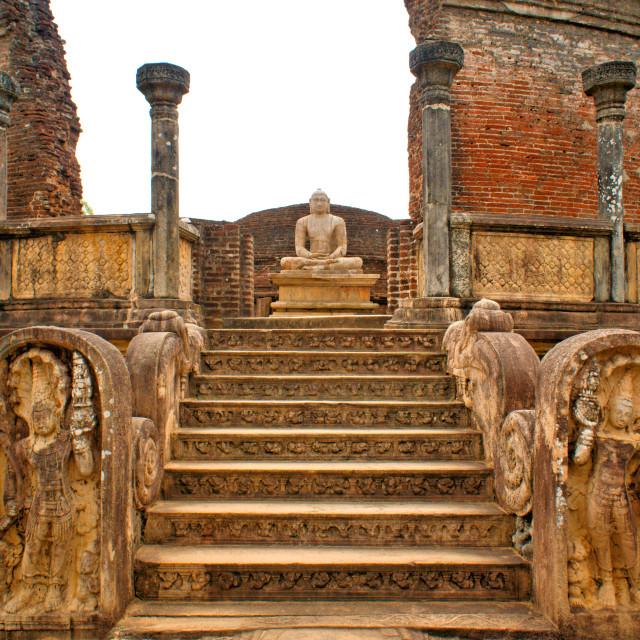 """Polonnaruwa Buddha"" stock image"