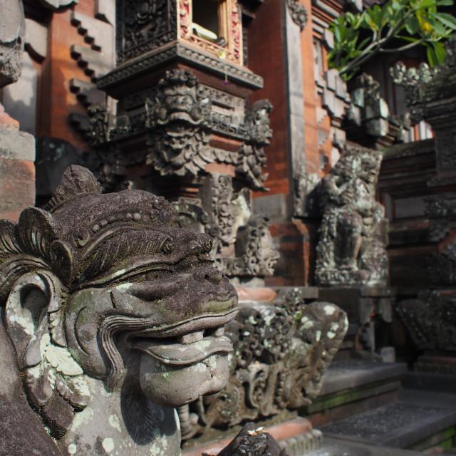 """Monkey sculpture"" stock image"