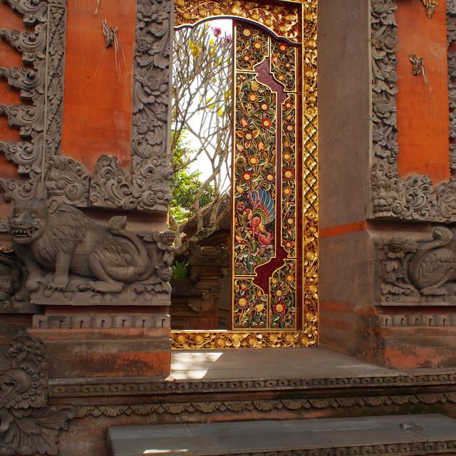 """Ornate doorway"" stock image"