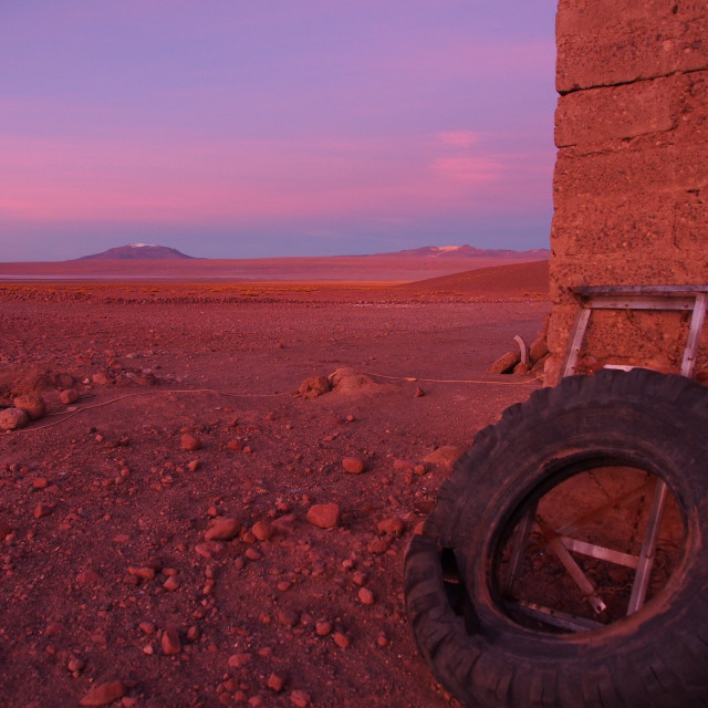 """""""Bolivian sunrise"""" stock image"""