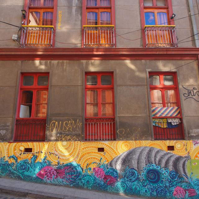 """""""Valparaiso street art"""" stock image"""