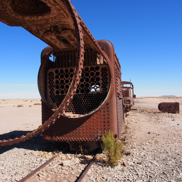 """Train graveyard"" stock image"