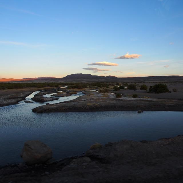 """Bolivian sunset"" stock image"