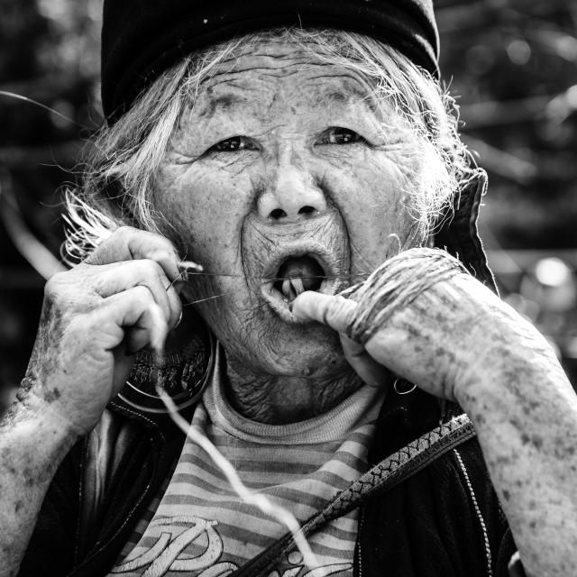 """""""H'Mong oldwoman"""" stock image"""