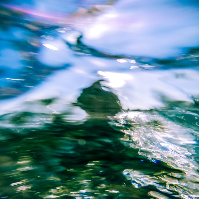 """Photo of woman from under the water"" stock image"