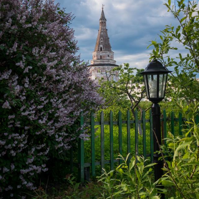 """Blacksmith tower Iosifo-Volotsky monastery"" stock image"