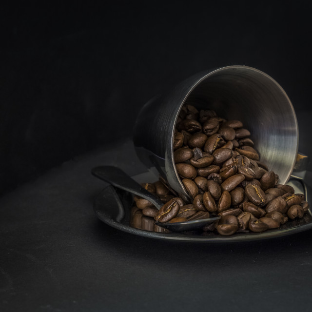 """Spilled beans"" stock image"
