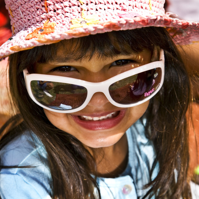 """Sunglass Smile"" stock image"