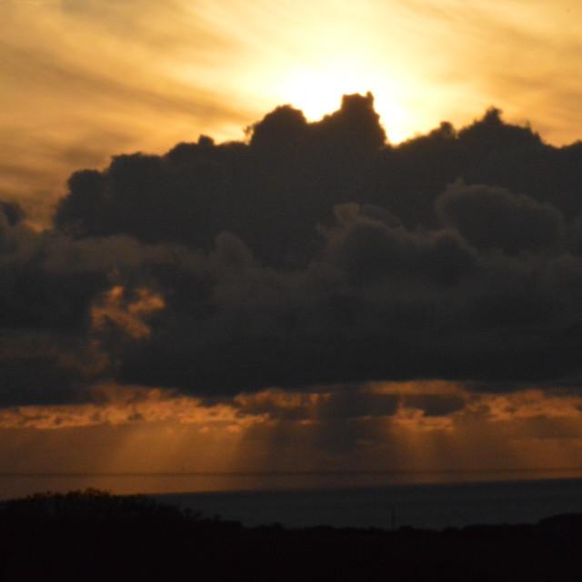 """Devon sunset 1"" stock image"