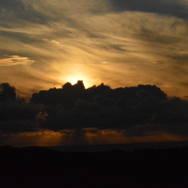 """Devon Sunset 2"" stock image"