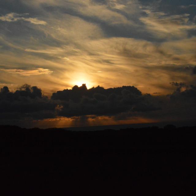"""Devon Sunset 3"" stock image"