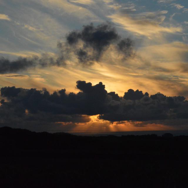 """Devon Sunset 4"" stock image"